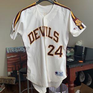 Vintage Barry Bonds Sun Devils jersey size 42 80s